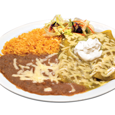 No. 1 Two Green Sauce Enchiladas